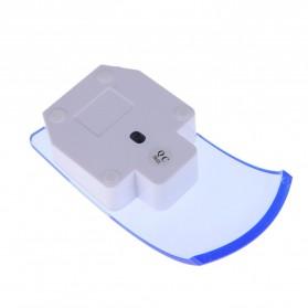 Mouse Wireless Optical Transparan - Blue - 4