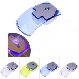 Mouse Wireless Optical Transparan - Blue - 5