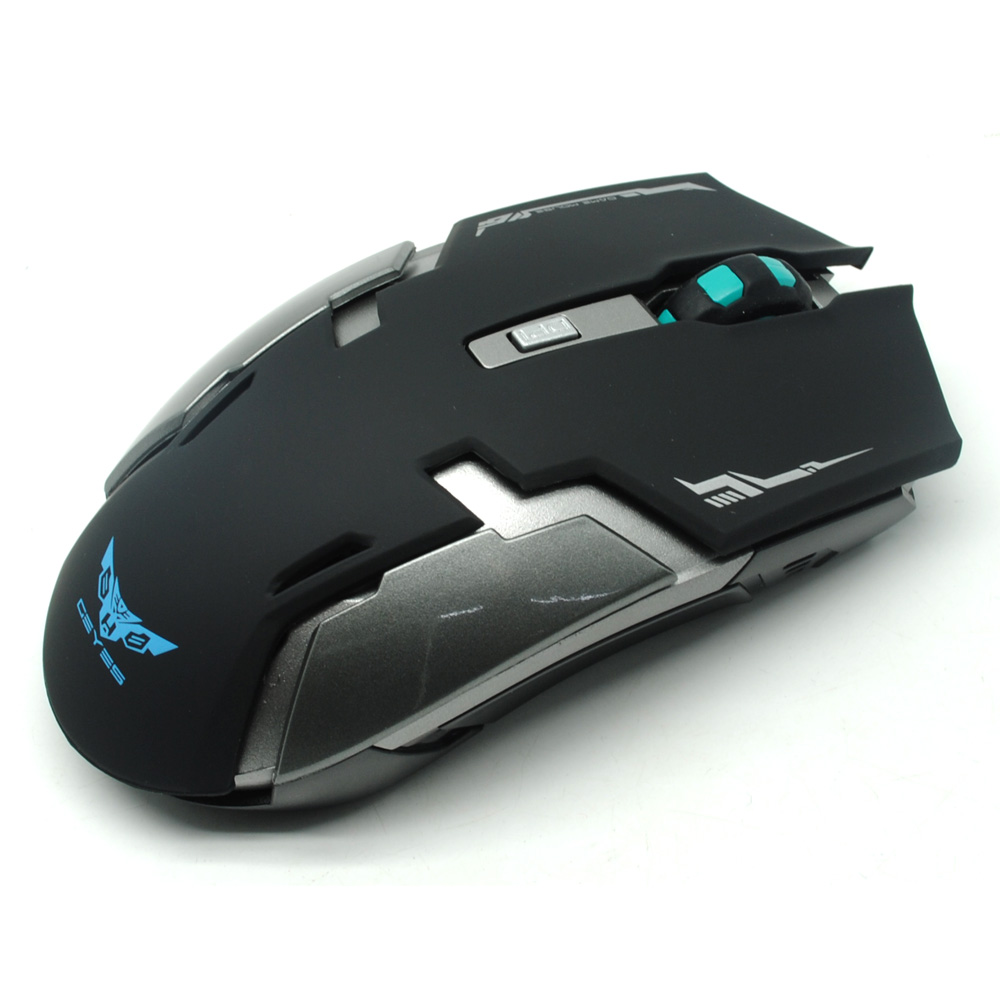 Geyes Gaming Mouse Wireless 1600 DPI - Black