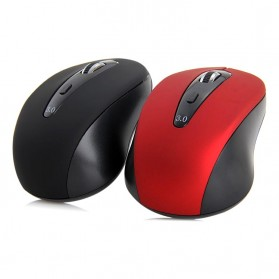 Mouse Wireless Bluetooth 3.0 1600DPI - BM308 - Black/Red - 4