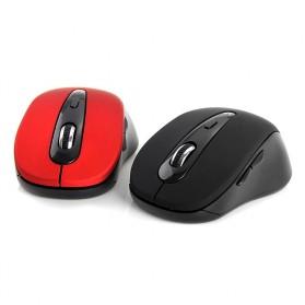 Mouse Wireless Bluetooth 3.0 1600DPI - BM308 - Black/Red - 5
