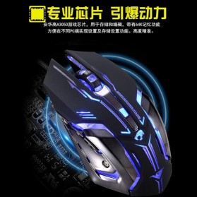 RAJFOO Gaming Mouse Laser - Model 1 - White - 3