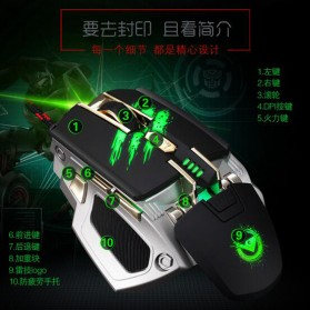 RAJFOO Gaming Mouse Laser - Model 2 - White - 5