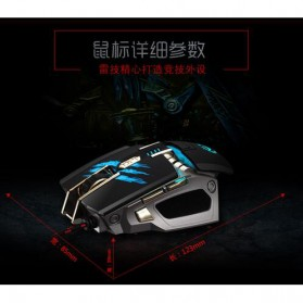 RAJFOO Gaming Mouse Laser - Model 2 - White - 9
