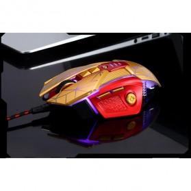 RAJFOO Gaming Mouse Laser - Model 3 - Golden - 6