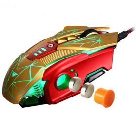 RAJFOO Gaming Mouse Laser - Model 3 - Golden - 7