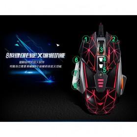 RAJFOO Gaming Mouse Laser - Model 3 - Golden - 9