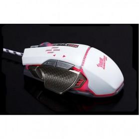 RAJFOO Gaming Mouse Laser - Model 5 - White - 3