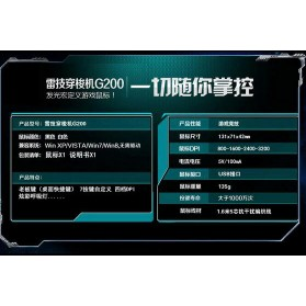 RAJFOO Gaming Mouse Laser - Model 5 - White - 9