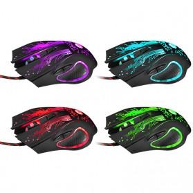 iMice Mouse Gaming USB 3200 DPI dengan LED RGB - X9 - Black - 2