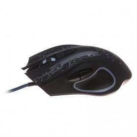 iMice Mouse Gaming USB 3200 DPI dengan LED RGB - X9 - Black - 4