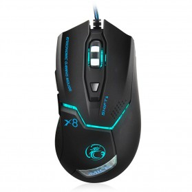 iMice X8 Gaming Mouse Ergonomic RGB LED 3200DPI - Black