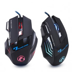 iMice X7 Dark Knight Gaming Mouse RGB LED 5500DPI - Black - 2