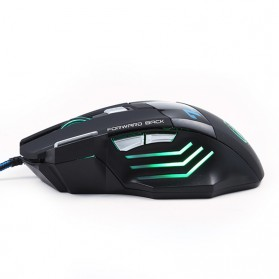 iMice X7 Dark Knight Gaming Mouse RGB LED 5500DPI - Black - 4