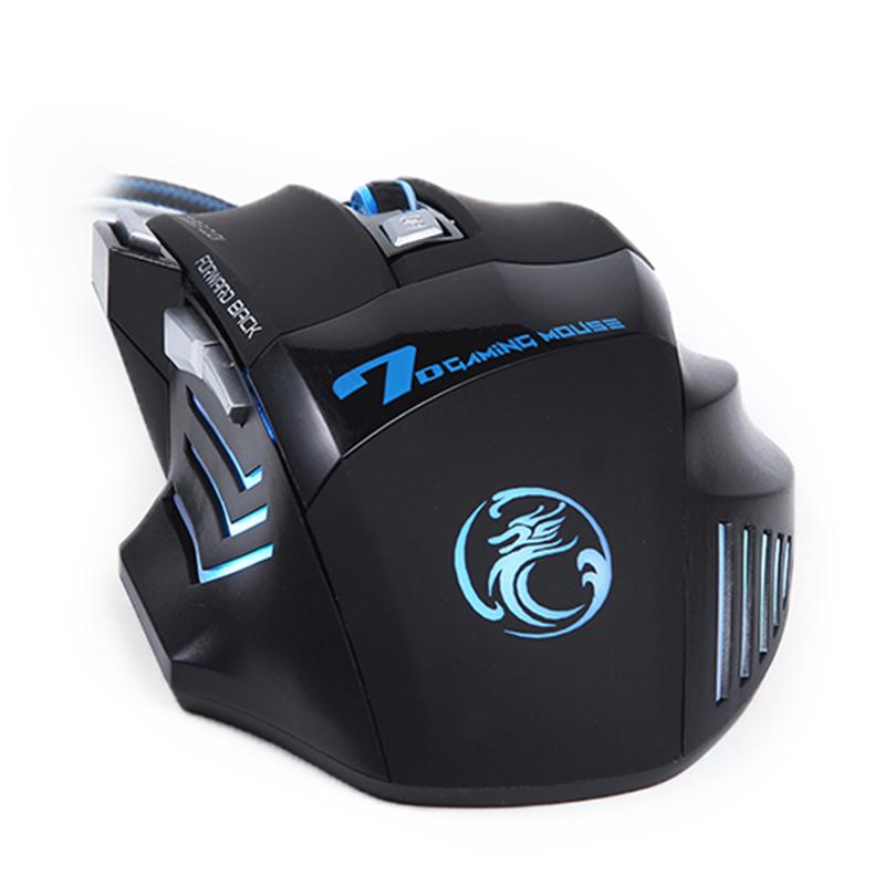 Imice X7 Dark Knight Gaming Mouse Rgb Led 5500dpi Black