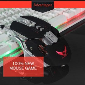 Wired Gaming Mouse Optical 3200 DPI - Black - 6