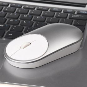 Ergonomic Minimalist Wireless Optical Mouse - Silver - 6