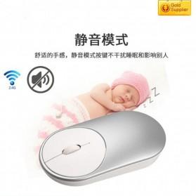 Ergonomic Minimalist Wireless Optical Mouse - Silver - 7