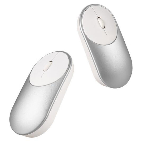 Ergonomic Minimalist Wireless Optical Mouse - Silver - 5 .