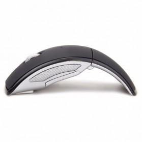 iMace Folded Super Slim Optical Wireless Mouse 2.4GHz - M016 - Black - 3