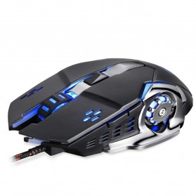 KOMOZ 1906 Mouse Gaming Kabel 6 Tombol - K85 - Black