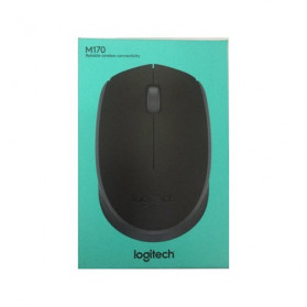 Logitech Wireless USB Mouse - M170 - Black - 3