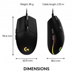 Logitech Lightsync RGB Gaming Mouse - G102 - Black - 7