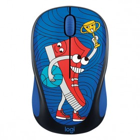Logitech Colorful Doodle Collection Wireless Mouse - M238 - Dark Blue