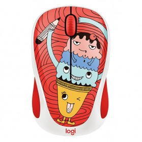 Logitech Colorful Doodle Collection Wireless Mouse - M238 - Red