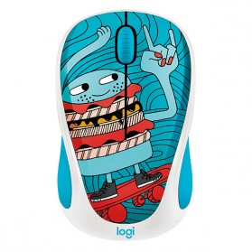 Logitech Colorful Doodle Collection Wireless Mouse - M238 - Blue