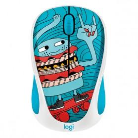 Logitech Colorful Doodle Collection Wireless Mouse - M238 - Blue