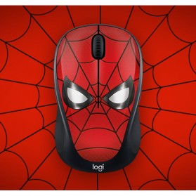 Logitech Marvel Collection Wireless Mouse - M238 - Black/Red - 4
