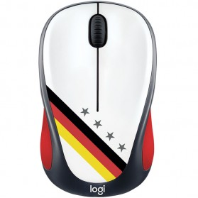 Logitech Nation Flag Bendera Negara Collection Wireless Mouse - M238 - Black/Red