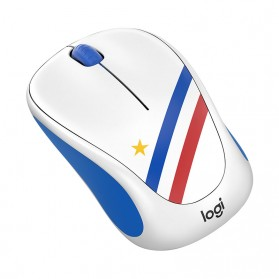 Logitech Nation Flag Collection Wireless Mouse - M238 - Blue/White - 2