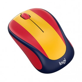 Logitech Nation Flag Collection Wireless Mouse - M238 - Red/Yellow - 2