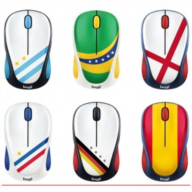 Logitech Nation Flag Bendera Negara Collection Wireless Mouse - M238 - Red/Yellow - 4