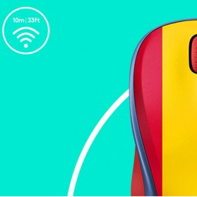 Logitech Nation Flag Bendera Negara Collection Wireless Mouse - M238 - Red/Yellow - 6