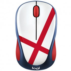 Logitech Nation Flag Bendera Negara Collection Wireless Mouse - M238 - Red/White