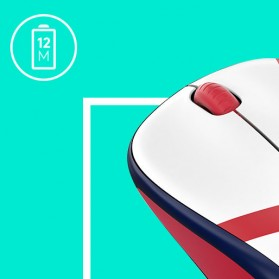Logitech Nation Flag Collection Wireless Mouse - M238 - Red/White - 5