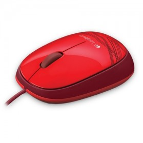 Logitech Wired Mouse - M105 - Red - 4
