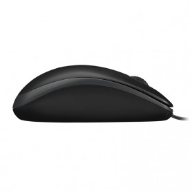 Logitech Wired Mouse - B100 - Black - 4