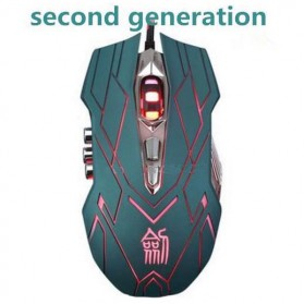Ghost Shark Aokdis Gaming Mouse Second Generation 4000 DPI - JS-X9 (backup) - Blue