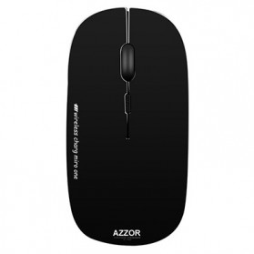 Wireless Mouse / Bluetooth Mouse - Azzor Super Slim Silent Optical Wireless Mouse 2.4GHz - N5 - Glossy Black
