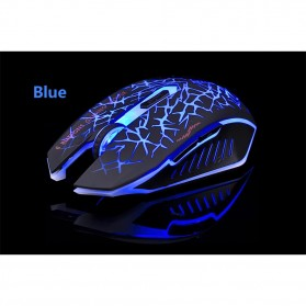 AZZOR Wireless Gaming Mouse Silent 2400 DPI - M6 - Blue - 2
