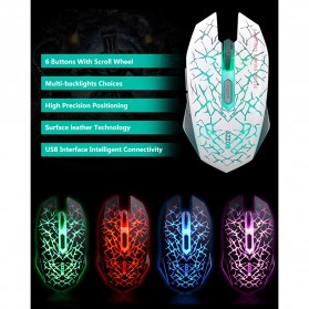 AZZOR Wireless Gaming Mouse Silent 2400 DPI - M6 - Blue - 7