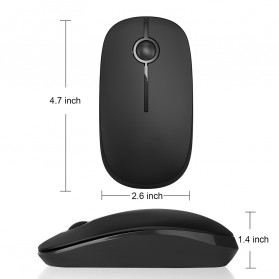 Jelly Comb Super Slim Silent Optical Wireless Mouse 2.4GHz - CP001497 - Black/Silver - 4