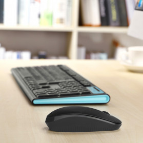 Jelly Comb Super Slim Silent Optical Wireless Mouse 2.4GHz - CP001497 - Black/Silver - 5