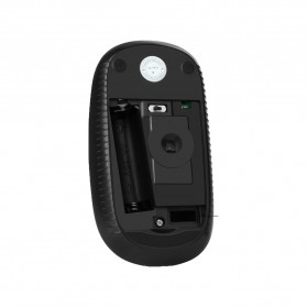 Jelly Comb Super Slim Silent Optical Wireless Mouse 2.4GHz - CP001497 - Black - 2
