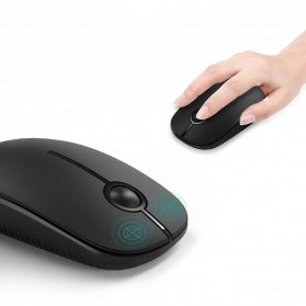 Jelly Comb Super Slim Silent Optical Wireless Mouse 2.4GHz - CP001497 - Black - 5