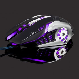 Leopard Mouse Gaming LED RGB 3200DPI - T02 - Black